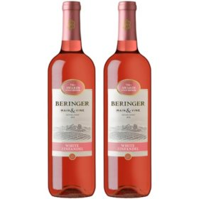 Beringer White Zinfandel (750ML bottles, 2 ct.)