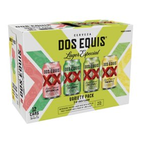 Dos Equis Lime and Salt Variety Pack Mexican Lager Beer (12 fl. oz. can, 12 pk)