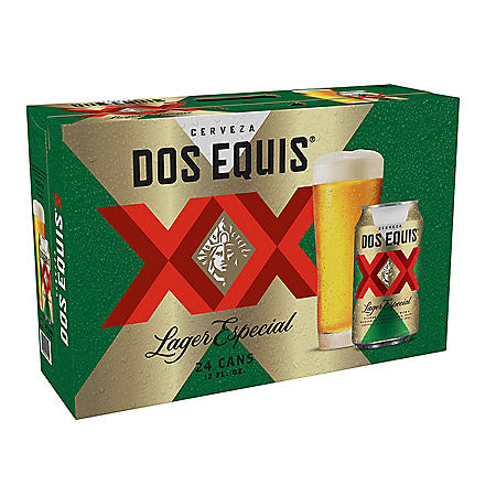 Dos Equis Mexican Lager Beer (12 fl. oz. can, 24 pk.)