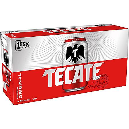 Tecate Cerveza (12 fl. oz. can, 18 pk.)