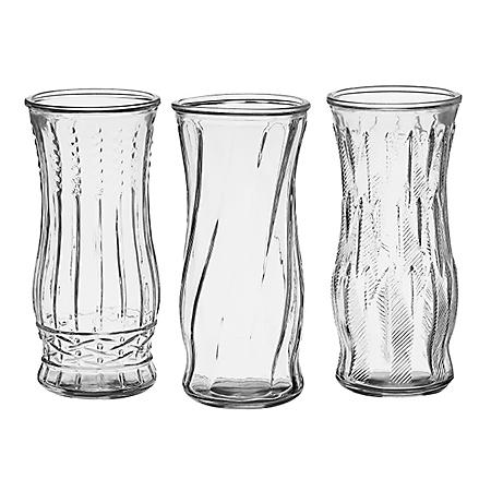"8 1/2"" Rose Vase Assortment - Crystal (12 ct.)"