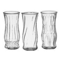 "8 1/2"" Rose Vase Assortment - Crystal (12 ct.)"
