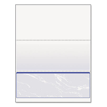 DocuGard - DocuGard Standard Security Marble Business Bottom Check, 24 lb, Letter -  500/RM