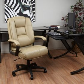 Deluxe High Back Leather Executive Chair (Assorted Colors)