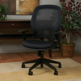 Space Seating AirGrid Back And Mesh Seat Managers Chair - Black