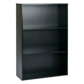 "OSP Home Furnishings Prado 48"" 3-Shelf Bookcase with 2 Adjustable shelves, Various Colors"