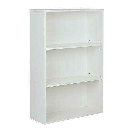 "OSP Home Furnishings Prado 48"" 3-Shelf Bookcase with 2 Adjustable shelves, Various Colors"