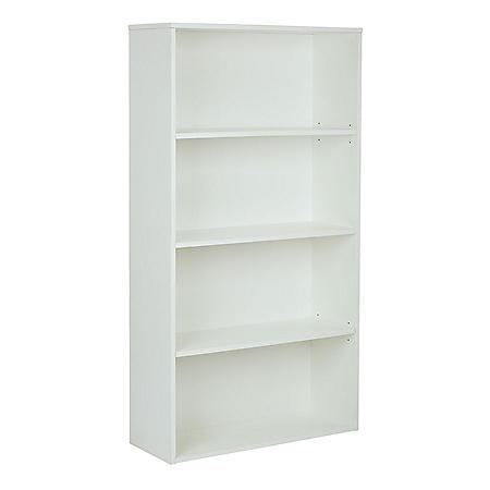 """OSP Home Furnishings Prado 60"""" 4-Shelf Bookcase, Various Colors"""