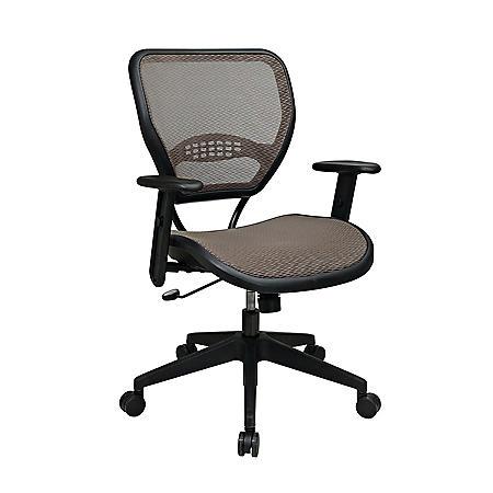 Office Star Latte AirGrid  Deluxe Task Chair, Black