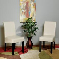 OSP Designs Parsons Dining Chair - Cream