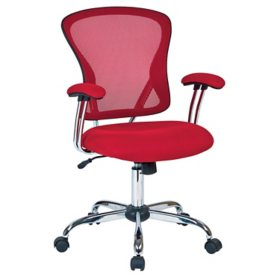 OSP Home Furnishings Juliana Task Chair with Mesh Fabric Seat, Various Colors