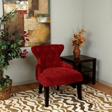 Avenue Six Curves Hourglass Chair - Vintage Grenadine