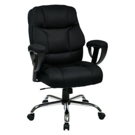 Work Smart Executive Big Mans Chair with Mesh Seat and Back
