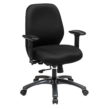 Office Star Products 24 Hour Ergonomic Chair with 2-to-1 Synchro Tilt