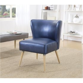 OSP Home Furnishings Amity Side Chair in Sizzle Fabric with Solid Wood Legs, Various Colors