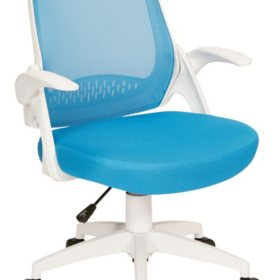 OSP Home Furnishings Jackson Mesh Office Chair with White Frame, Various Colors