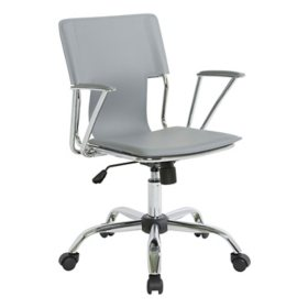 OSP Home Furnishings Dorado Office Chair in Vinyl and Chrome Finish, Various Colors