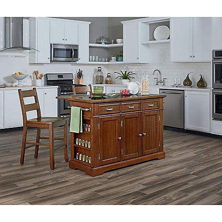 INSPIRED by Bassett, Farmhouse Basics Kitchen Island, Vintage