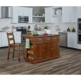 INSPIRED by Bassett, Farmhouse Basics Kitchen Island, Vintage