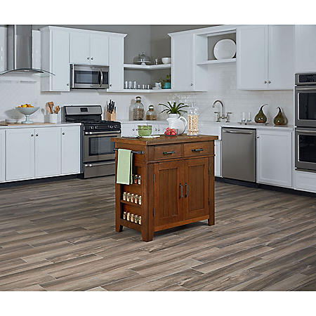 INSPIRED By Bassett, Urban Farmhouse Kitchen Island (Assorted Colors)