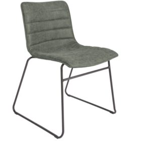 OSP Home Furnishings 2-Pack Halo Stacking Chair in Faux Leather with Black Base, Various Colors