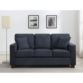 Ave Six, Russell 3-Seater Sofa - Navy