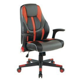OSP Home Furnishings Output Gaming Chair, Assorted Colors
