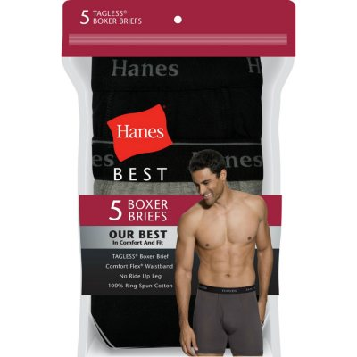 32-34 Inch Hanes Tagless Briefs with Comfort Flex Waistband 3 Pack M White