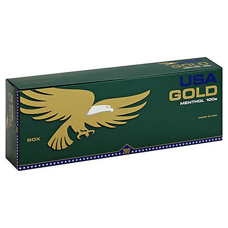 USA Gold Menthol 100's Box (20 ct., 10 pk.)