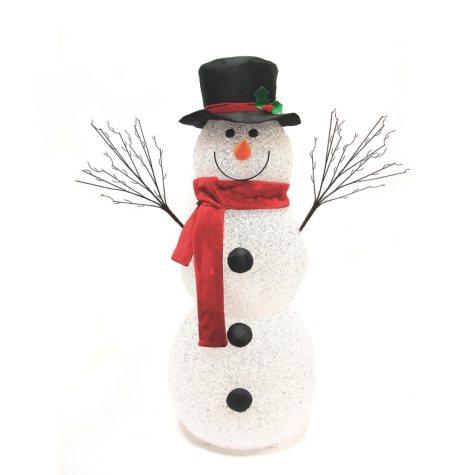 """Pre-lit Snowman - 48"""" tall"""