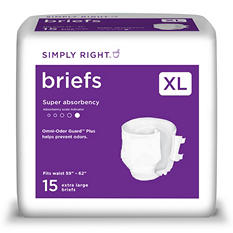 Simply Right Unisex Briefs, Extra Large (60 ct.)