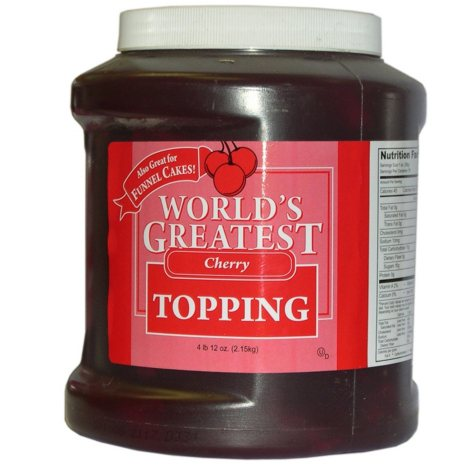 Gold Medal World's Greatest Topping, Cherry (66 oz. container)