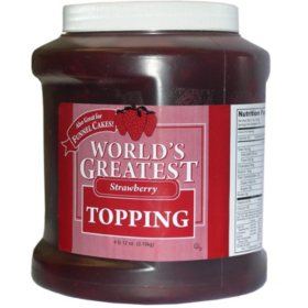 Gold Medal World's Greatest Topping, Strawberry (66 oz. container)