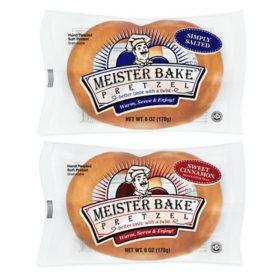 Meister Bake Pretzels Variety Pack (6oz. / 24pk.)