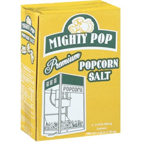 Mighty Pop Premium Popcorn Salt - 2/35oz cartons