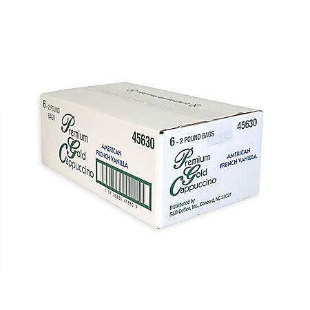 Premium Gold Cappuccino Mix, French Vanilla (2 lb., 6 ct.)