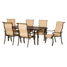 Brigantine 7-Piece Outdoor Dining Set with Cast-Top Table