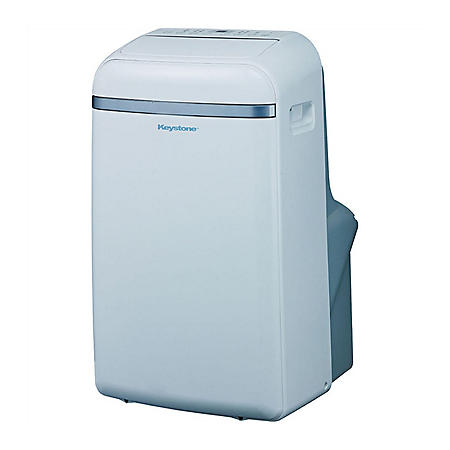 "Keystone 14,000 BTU 115V Portable Air Conditioner with ""Follow Me"" LCD Remote Control"