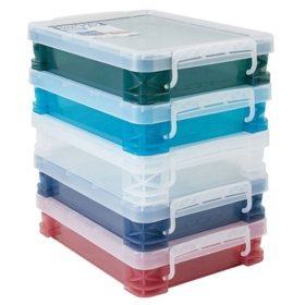 Super Stacker, Document Boxes, Assorted Colors, 5 Pack