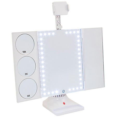 LED Makeup Vanity Mirror with Phone Attachment
