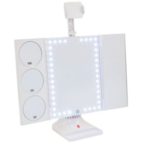Thinkspace GloTech LED Makeup Vanity Mirror with Phone Attachment