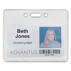 Advantus Proximity ID Badge Holder - Horizontal - 50 pk.