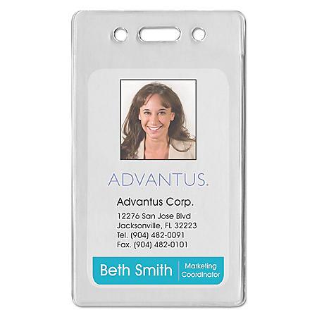 Advantus Proximity ID Badge Holder - Vertical - 50 pk.