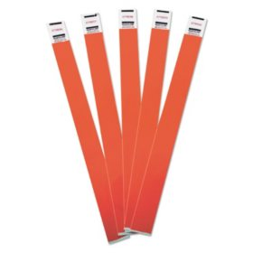 Advantus - Crowd Management Wristbands, Sequentially Numbered, Red -  500/Pack