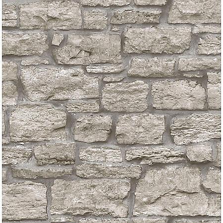InHome Saco Stone Peel & Stick Wallpaper Set of 2
