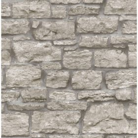 InHome Saco Stone Peel & Stick Wallpaper Set of 2