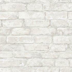 InHome White Denver Brick Peel & Stick Wallpaper - Set of 2