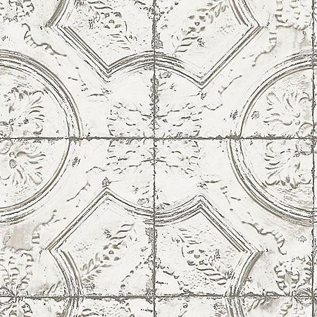 InHome Newport Tin Tile Peel & Stick Wallpaper - Set of 2