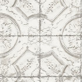 InHome Newport Tin Tile Peel & Stick Wallpaper - Set of 2