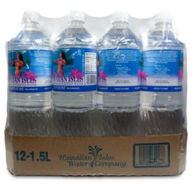 Hawaiian Isles Water (1.5 L, 12 pk.)